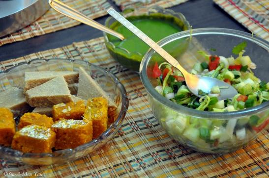 Sweets, Salad and chutney