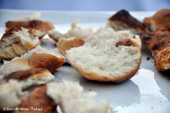 the crumb shot, crusty crust and soft crumb - the bread was a winner