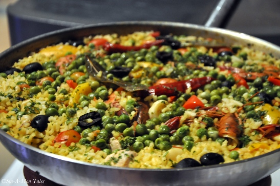 Sea Food  Paella  - a classic spanish dish and a favorite with me