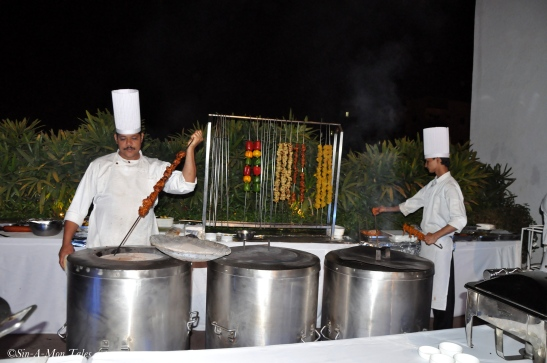 The indian chef at work
