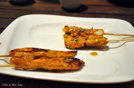 Chicken and Fish Satay... The chicken one was good
