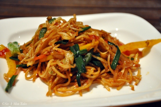 Spicy Singapore Noodles, the husband loved this