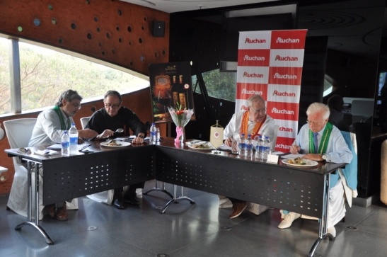 The judges at the tasting table