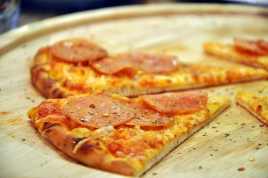 Pepperoni and cheese wood fire pizza for the kids and did I tell you the only time we had kids on the table was the time we had to drag them to eat and there was always someone looking after them... another big highlight for me