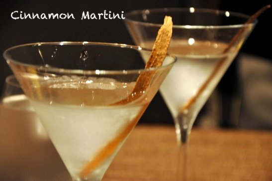 Dry Cinnamon Martini to clear the palate, cinnamon was an interesting twist to the standard olive considering it was served at an Indian restaurant. Also one of the most potent martini's I have had outside my house