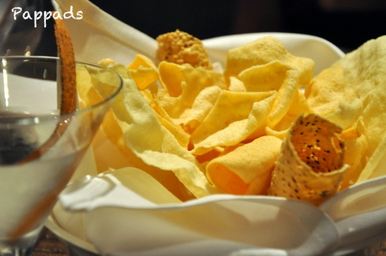 The indian papads... I love these anywhere I eat an indian meal