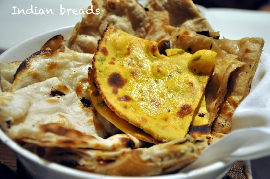 With this we moved to the mains, and here is the bread basket. The missi roti was very good