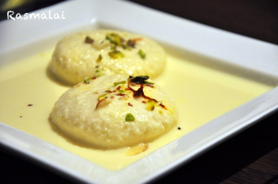 And we ended the meal with rasmalai which frankly for me was more of a miss than hit. The milk was good in flavour but it was the rasmalai itself which disappointed me, chewy and hard as compared to the soft melt in the mouth it should have been