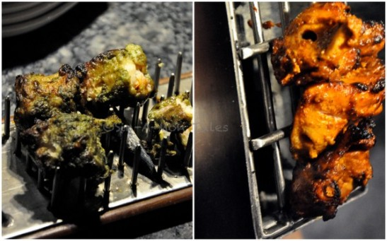 some more non veg kababs which were brought on a mini grill