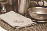 Somethings look great in Sepia, almost feels like time travel. The table ready for the meal