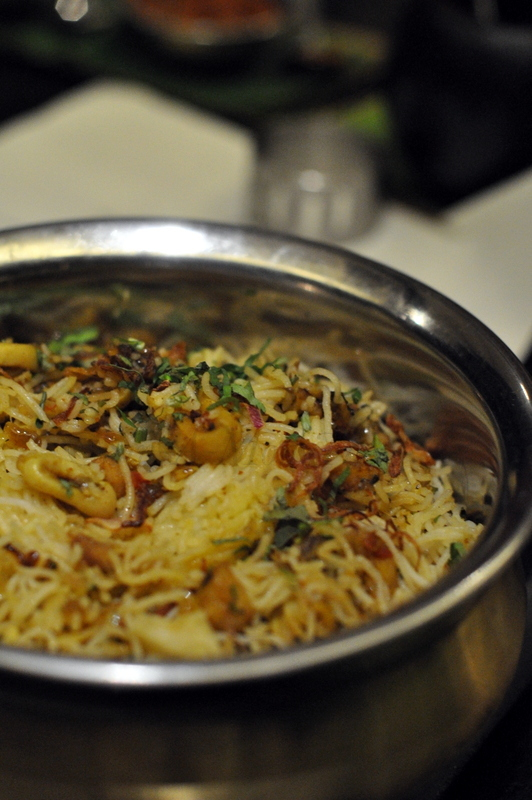 Shevaiani Refogado - String hoppers cooked with mixed meat and seafood. A little like sevain biryani and I loved it