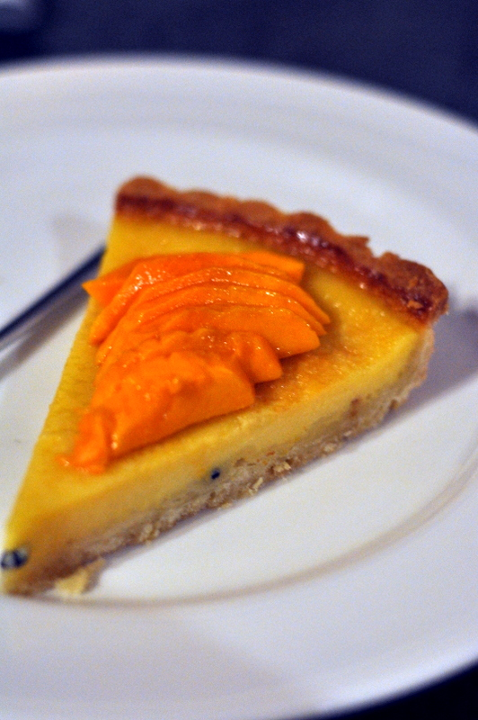 Passion fruit and Mango Tart - A dessert which could have been stellar but which failed at many levels, the topmost being doughy and uncooked pasrty. Again I couldn't help but compare it to last time when I had gone all the way to praise the shortcut pastry last time