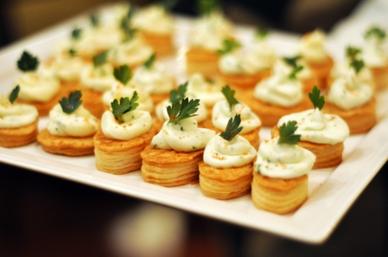 The vegetarian canape - a herb cheese on filo pastry, again the cheese cut into the acidity. I loved the phyllo baked well