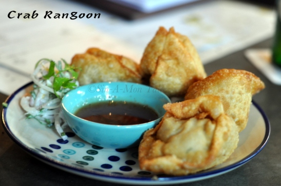 Crab Rangoon, now I have tasted this before (its available in Indira nagar) but the man wanted to taste them so we ordered. Works for me, worked for him