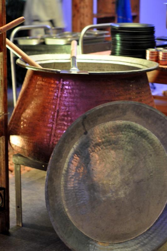 The massive handi to make stew and curries