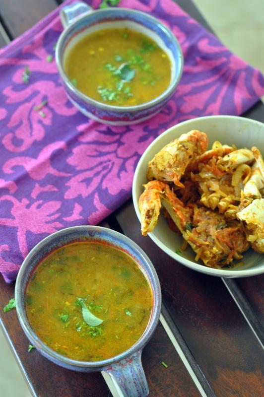 crab rasam 1